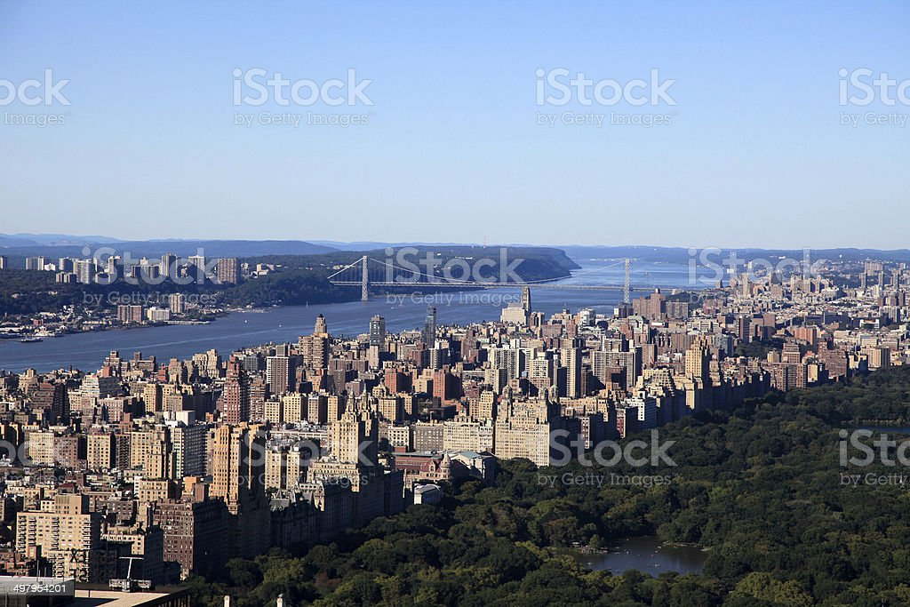 View of Central Park and New York City, USA royalty-free stock photo