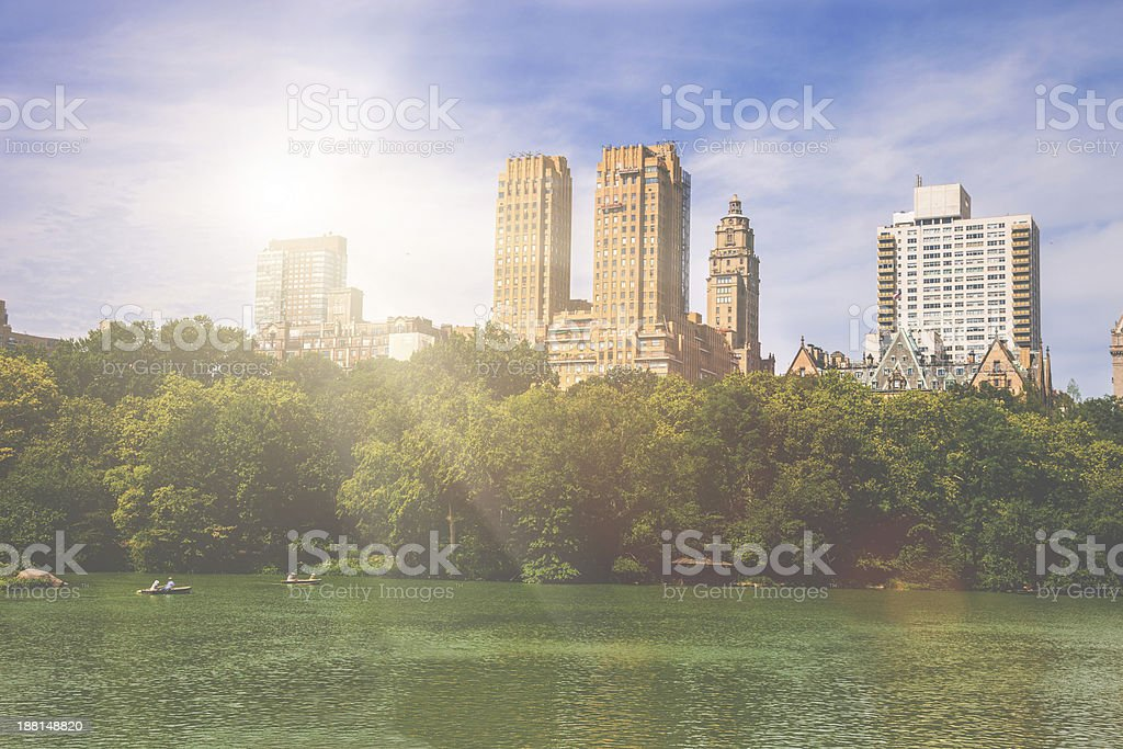 View of Central Park in New York royalty-free stock photo