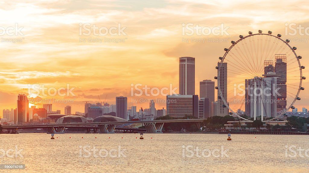 View of central Singapore stock photo