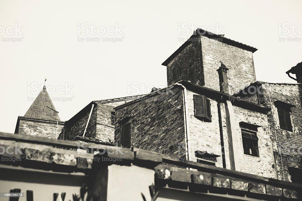 View of Certaldo Alto, Florence, Tuscany stock photo