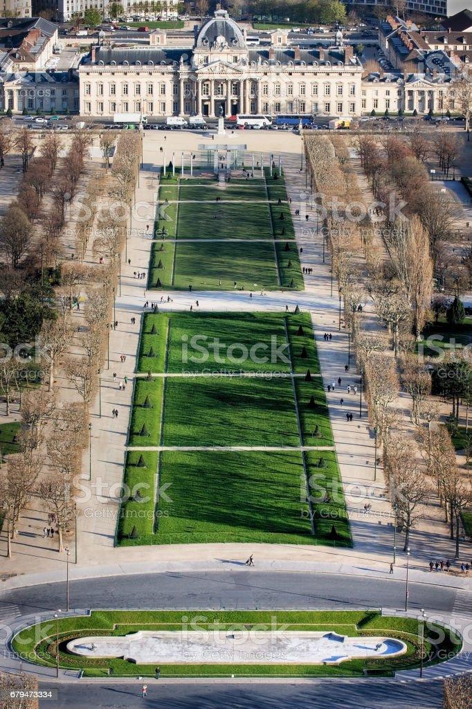 View of Champ de Mars stock photo