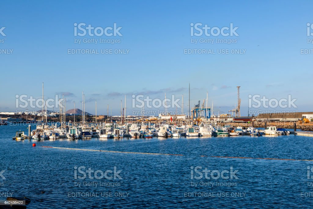 view of Charco de San Gines in Arrecife, Lanzarot stock photo