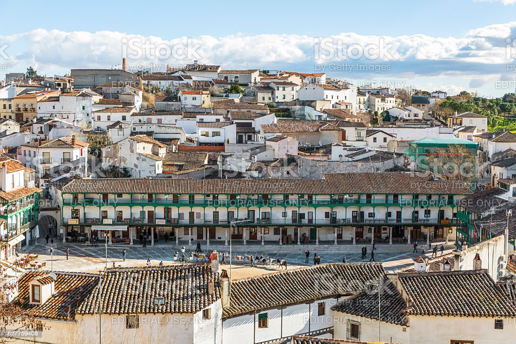 View of chinchon square. Town near Madrid stock photo