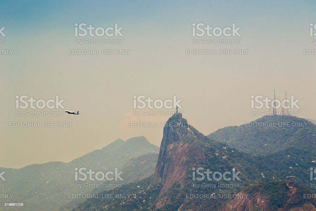 View of Christ the Redeemer statue from Parque da Cidade royalty-free stock photo