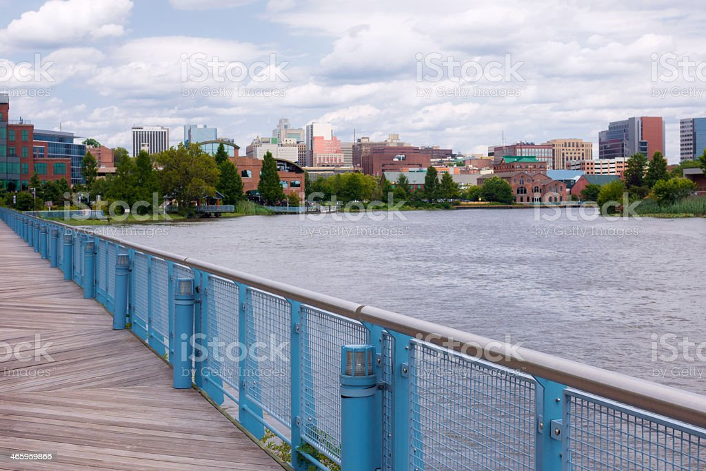 View of Christina River and downtown of Wilmington, Delaware stock photo