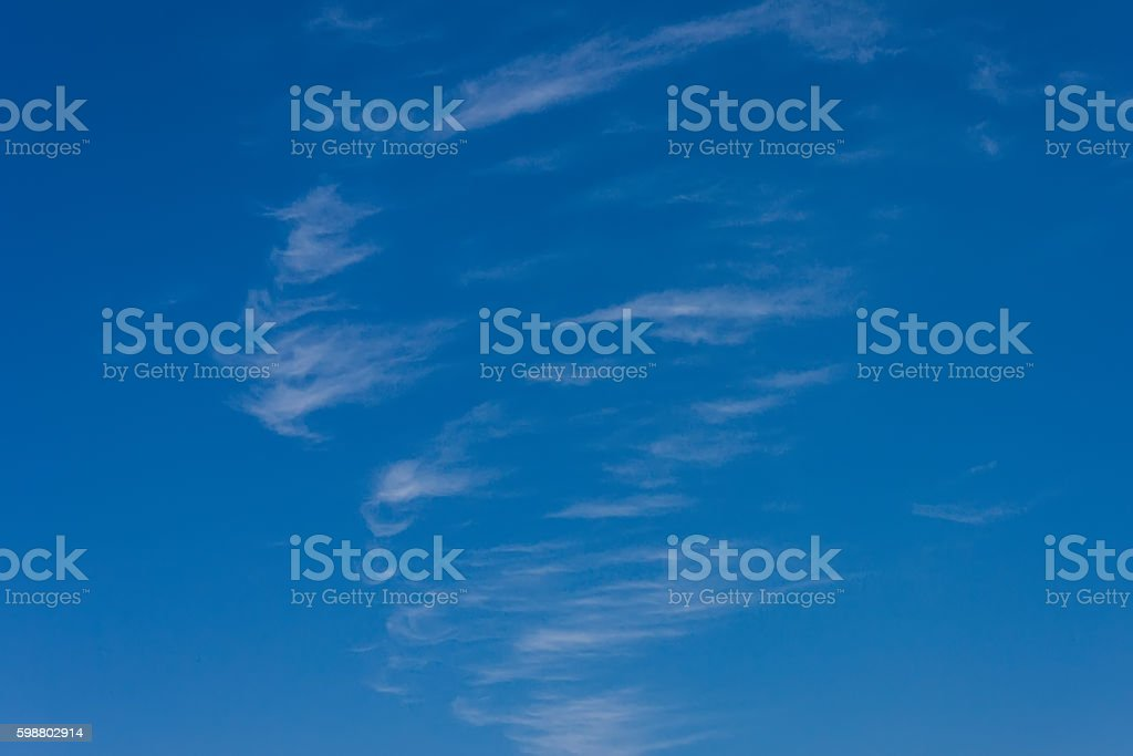 View of cirrus clouds stock photo