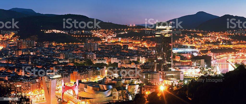 View of city Bilbao, Spain stock photo