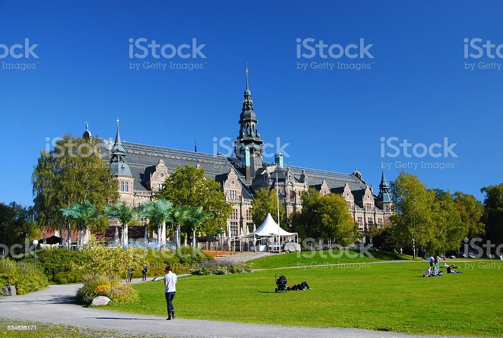 view of City museum Stockholm, Sweden stock photo