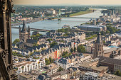 View of city of Cologne in Germany