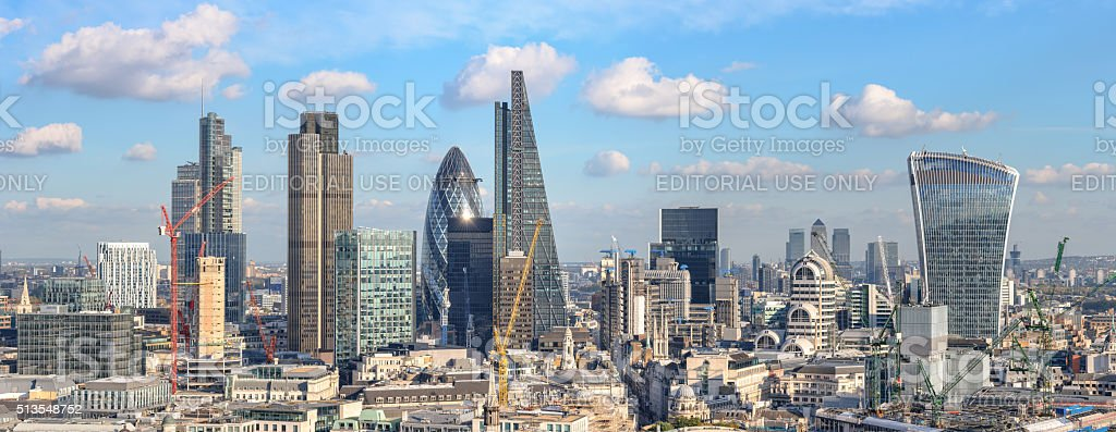 View of City of London from St Paul cathedral stock photo