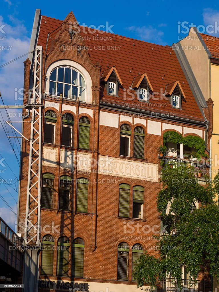 View of CK Tattersall in Berlin, Germany stock photo