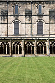 View of cloisters at Durham Cathedral