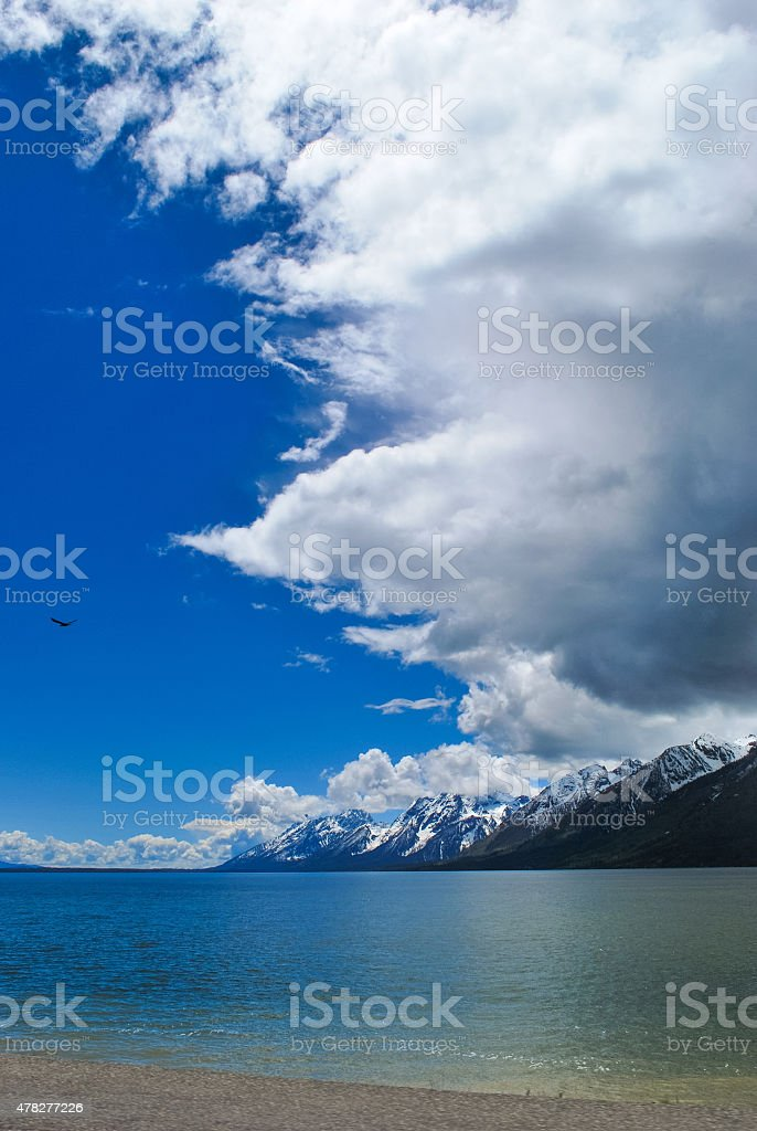 View of Clouds over Lake royalty-free stock photo