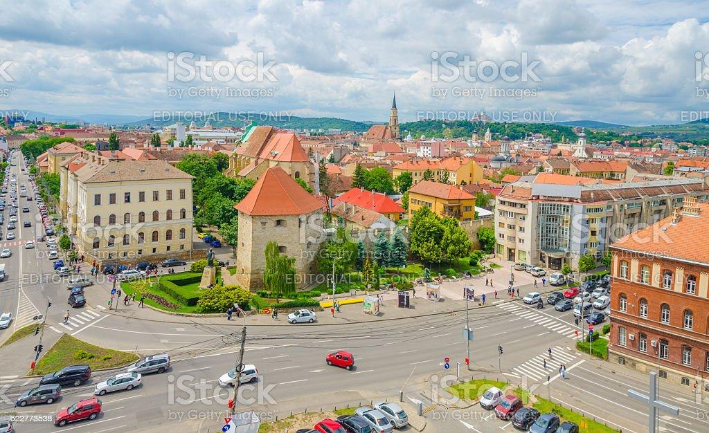 View of Cluj-Napoca stock photo