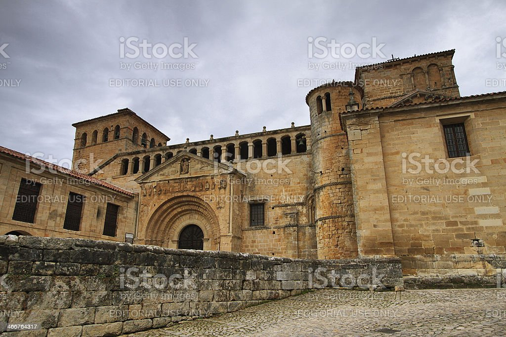 View of Collegiate church Santa Juliana stock photo