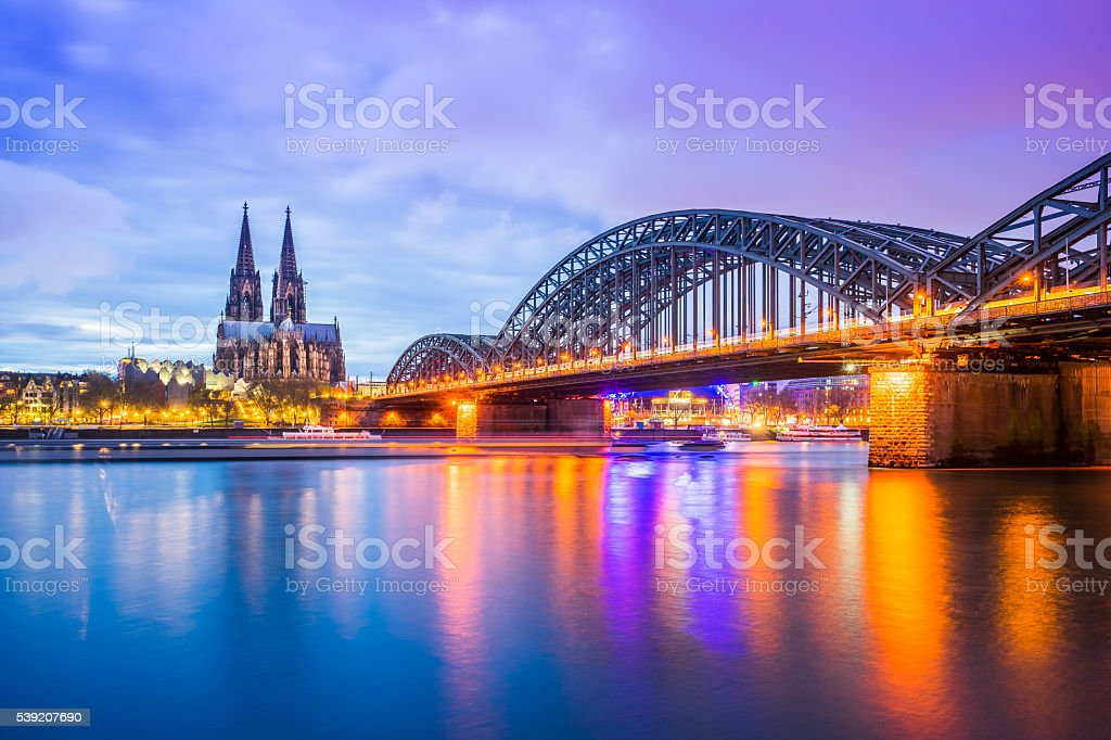 View of Cologne Cathedral in Cologne, Germany stock photo