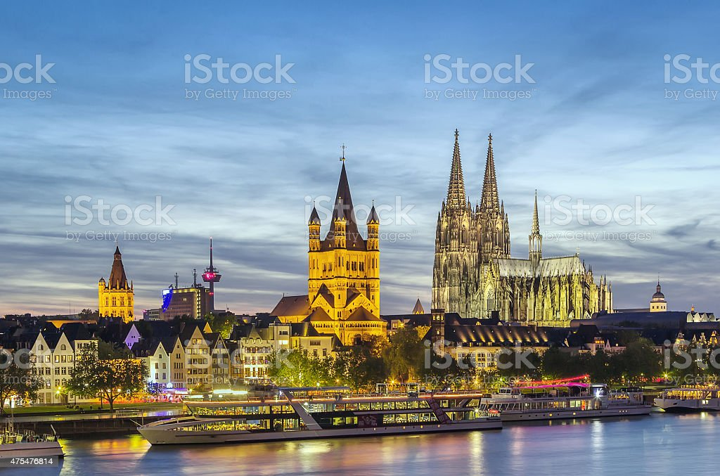 view of Cologne, Germany stock photo