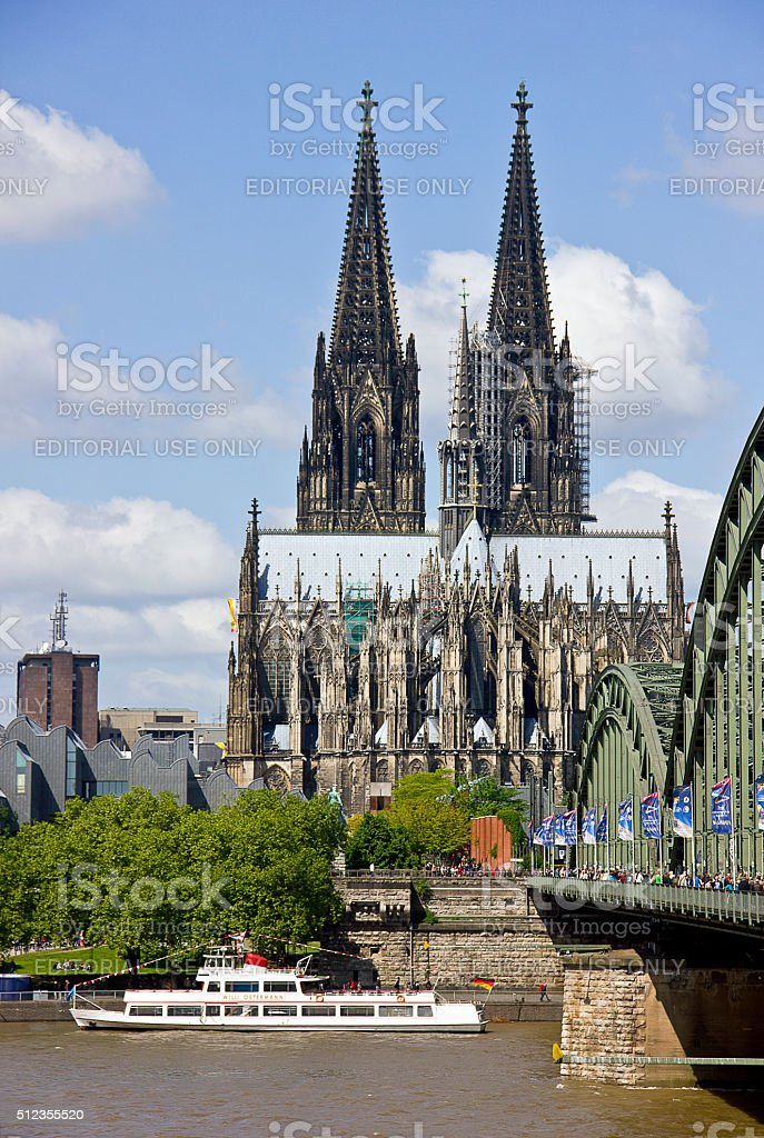 View of cologne stock photo
