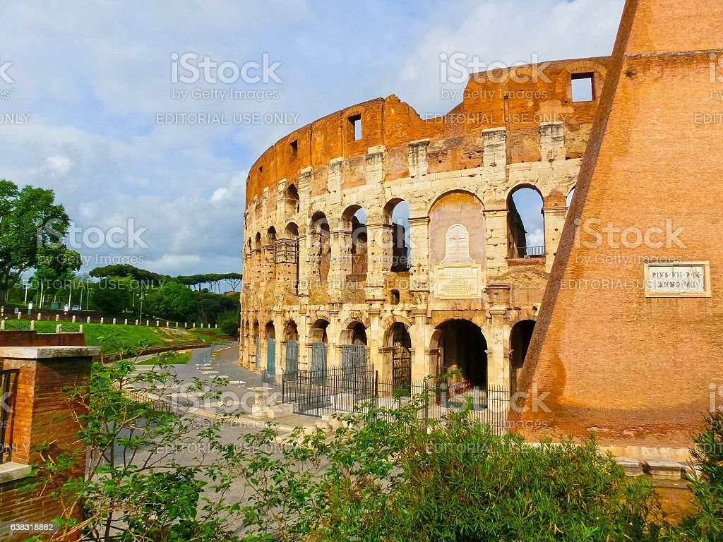 Rome, Italy - May 02, 2014: View of Colosseum at stock photo