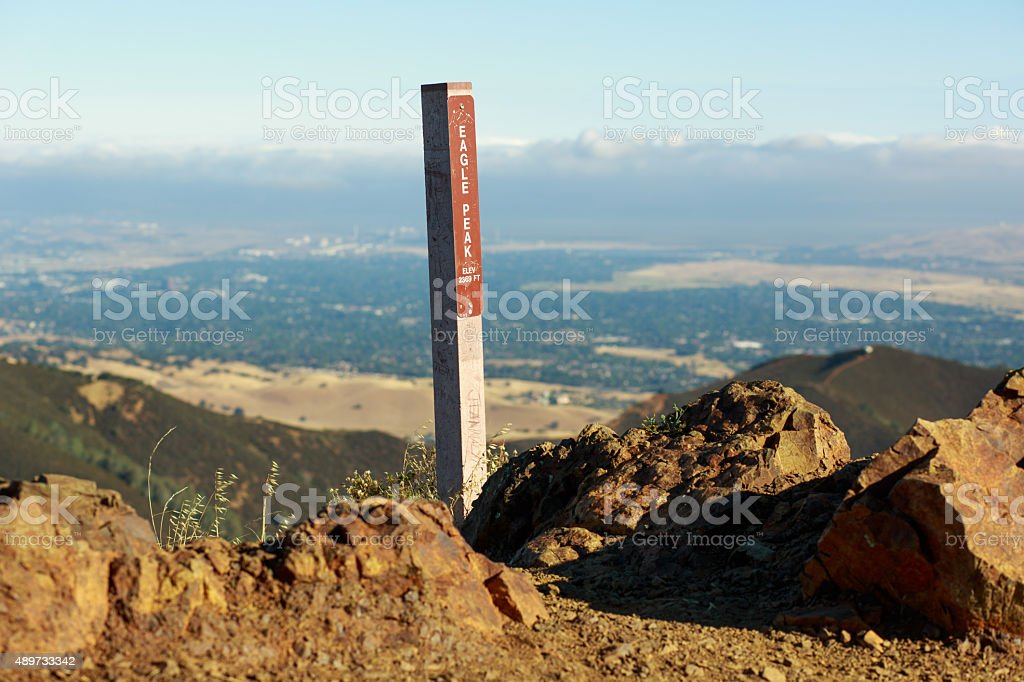 View of Concord, California from Eagle Peak stock photo