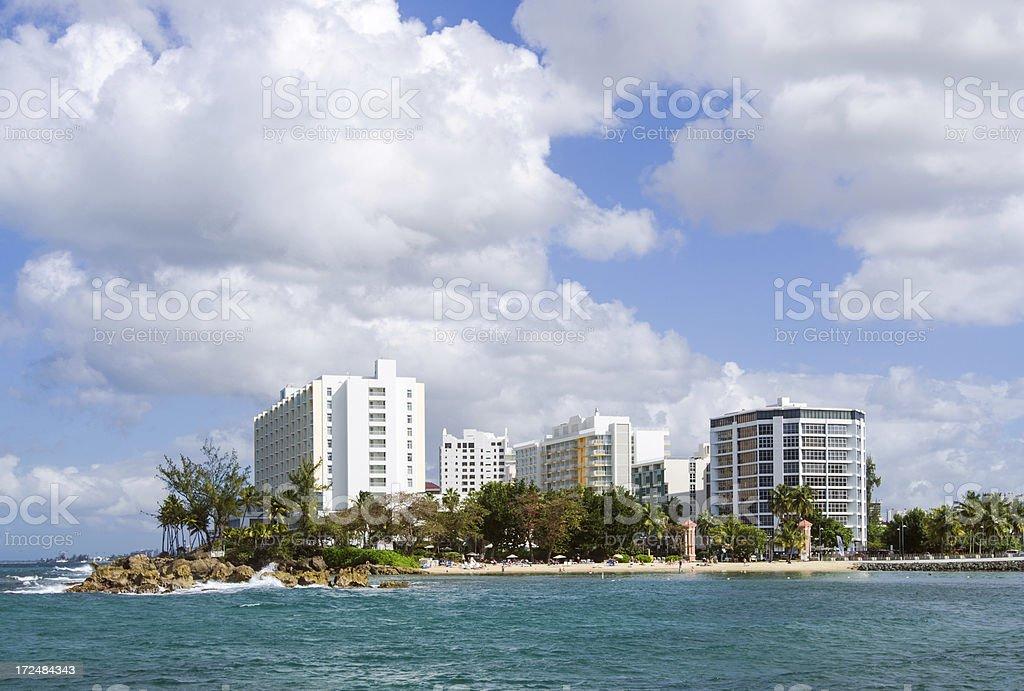View of Condado in San Juan, Puerto Rico stock photo