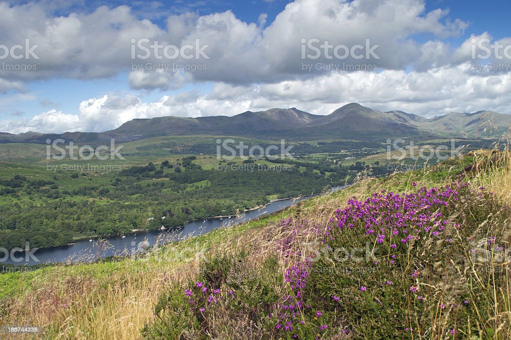 View of Coniston water stock photo