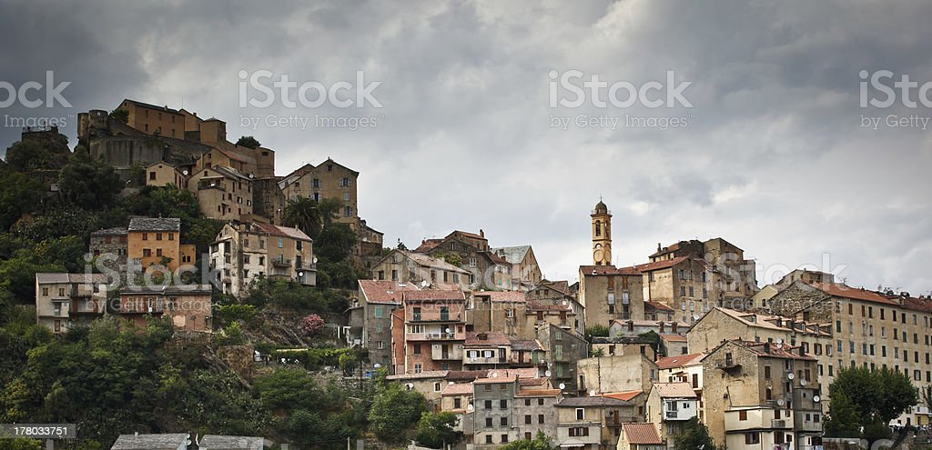 View of Corte, Corsica, France royalty-free stock photo