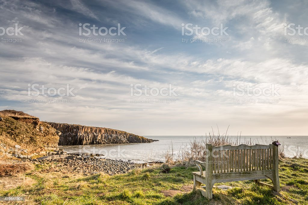 View of Cullernose Point stock photo