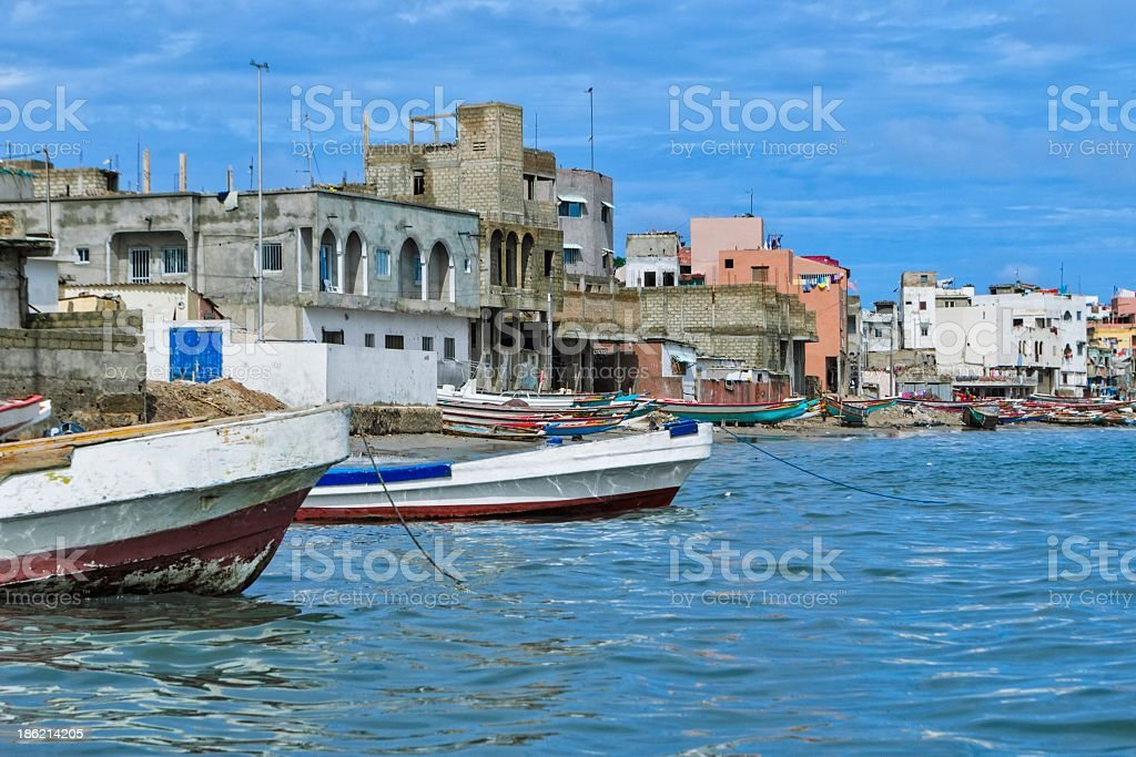 A view of Dakar from the water stock photo