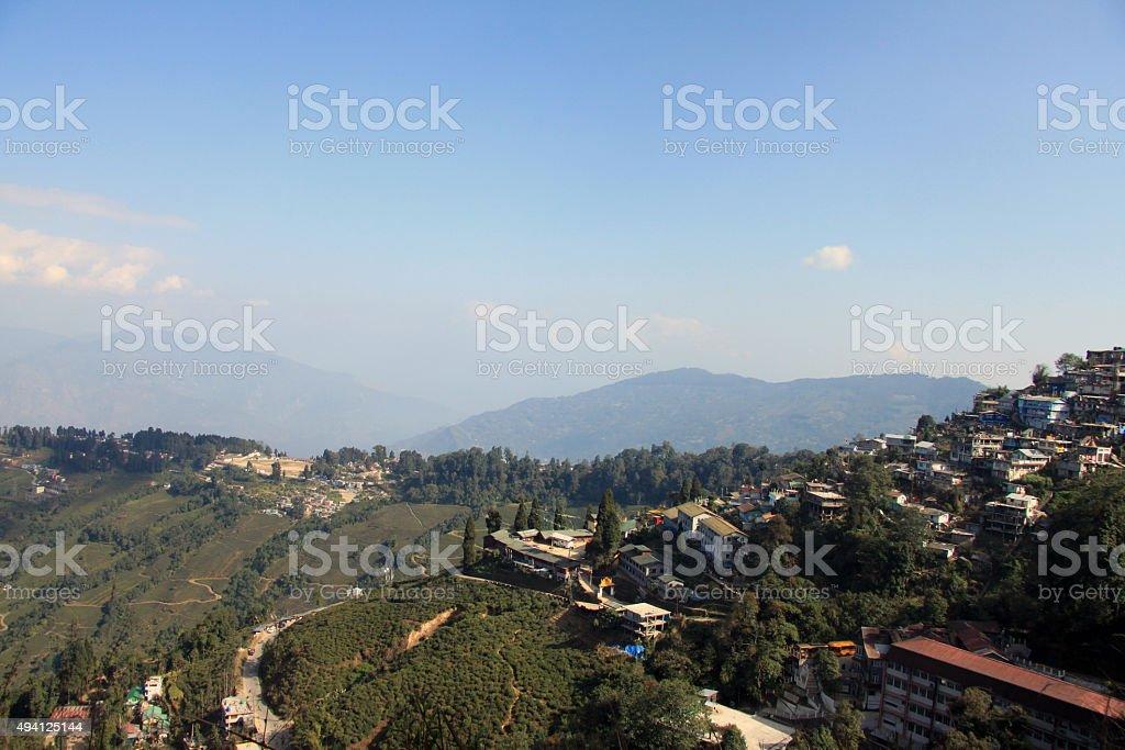 View of Darjeeling, India stock photo