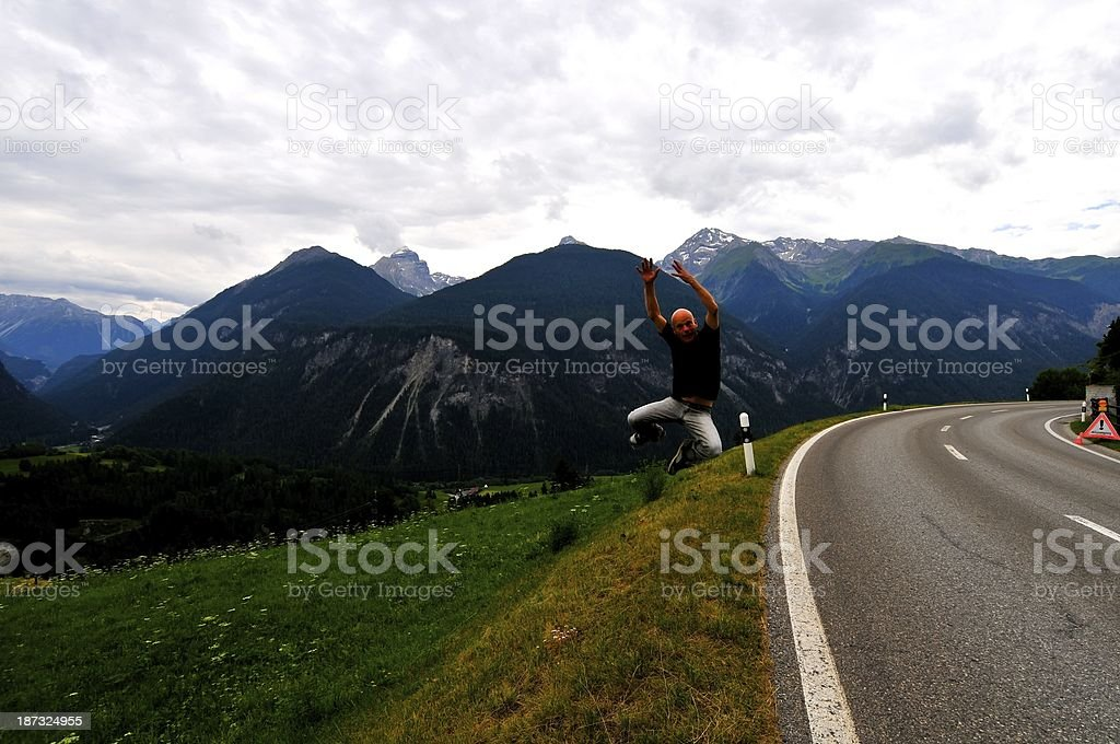View of Davos Kloster Switzerland stock photo