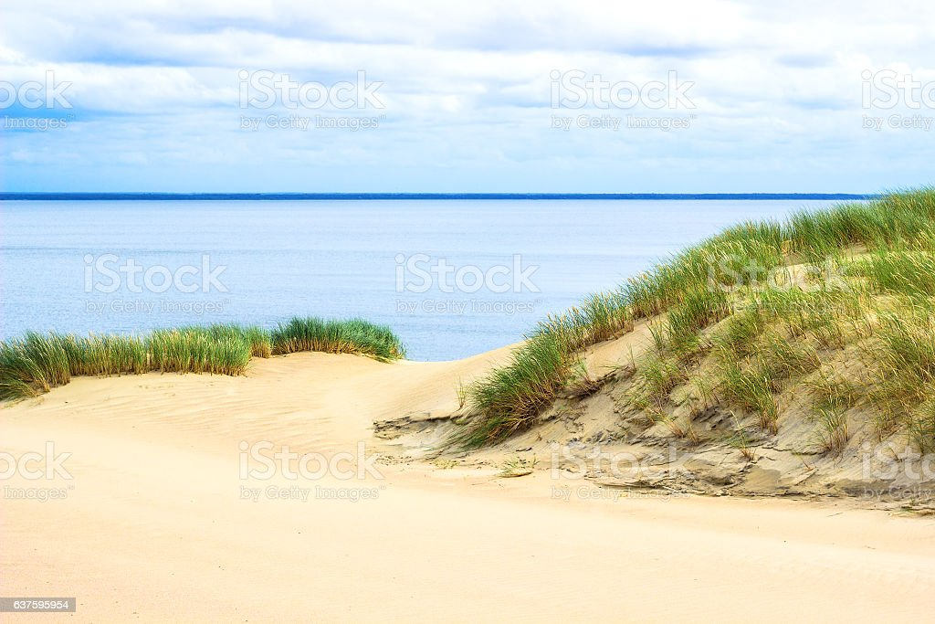 View of Dead Dunes, Nida, Klaipeda, Lithuania. stock photo