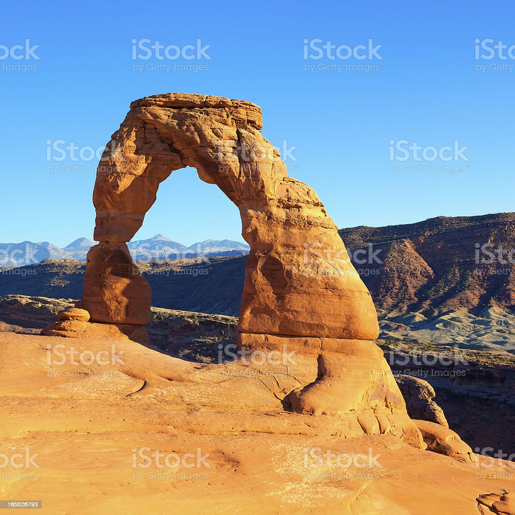 view of Delicate Arch royalty-free stock photo