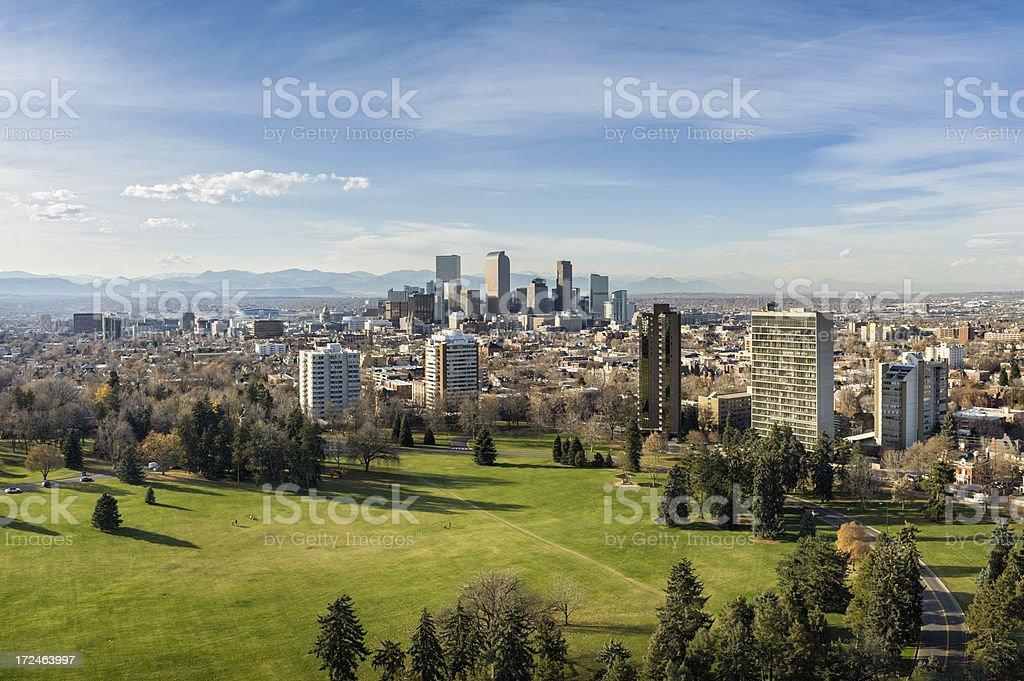 View of Denver Colorado Skyline stock photo