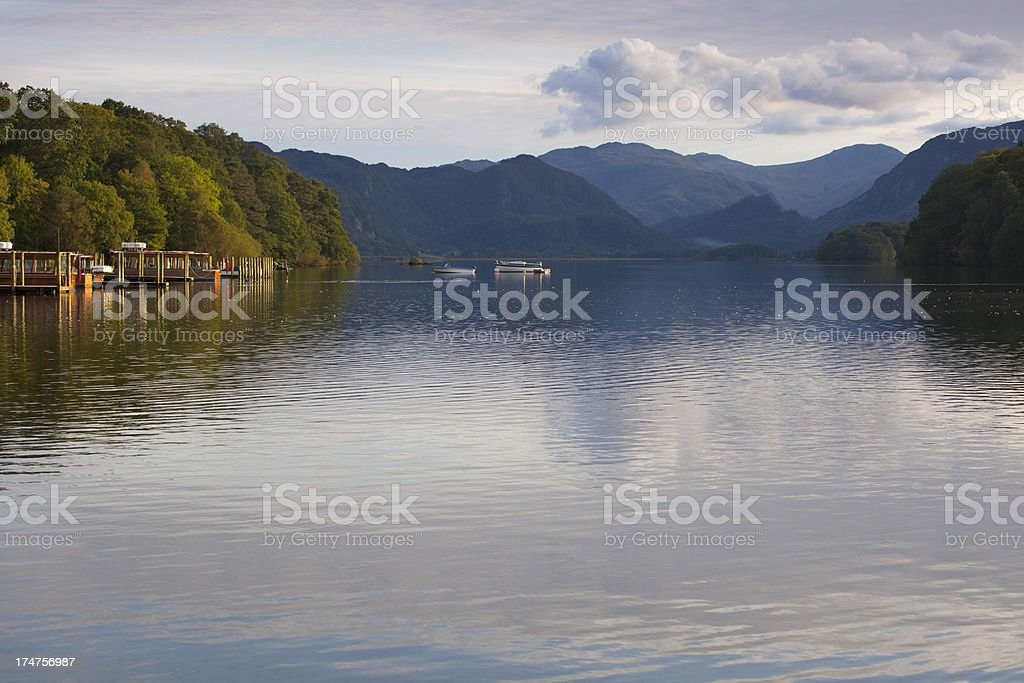 View of Derwent Water in the English Lake District. royalty-free stock photo