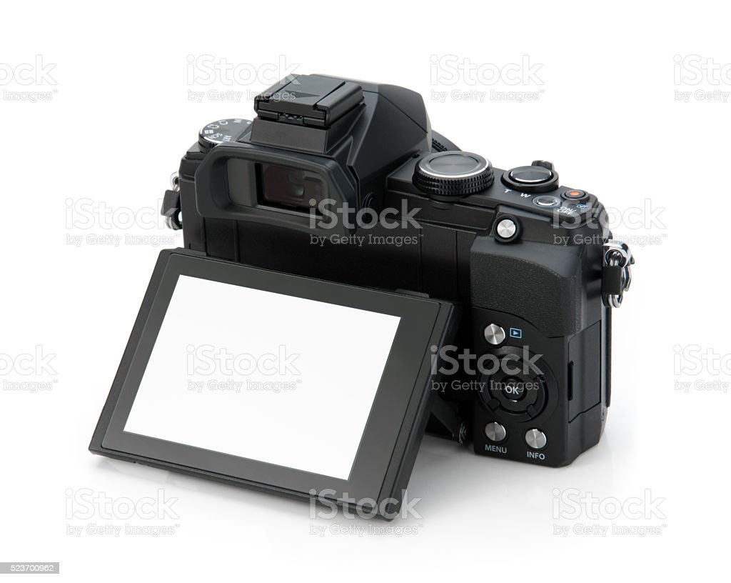 view of digital camera stock photo