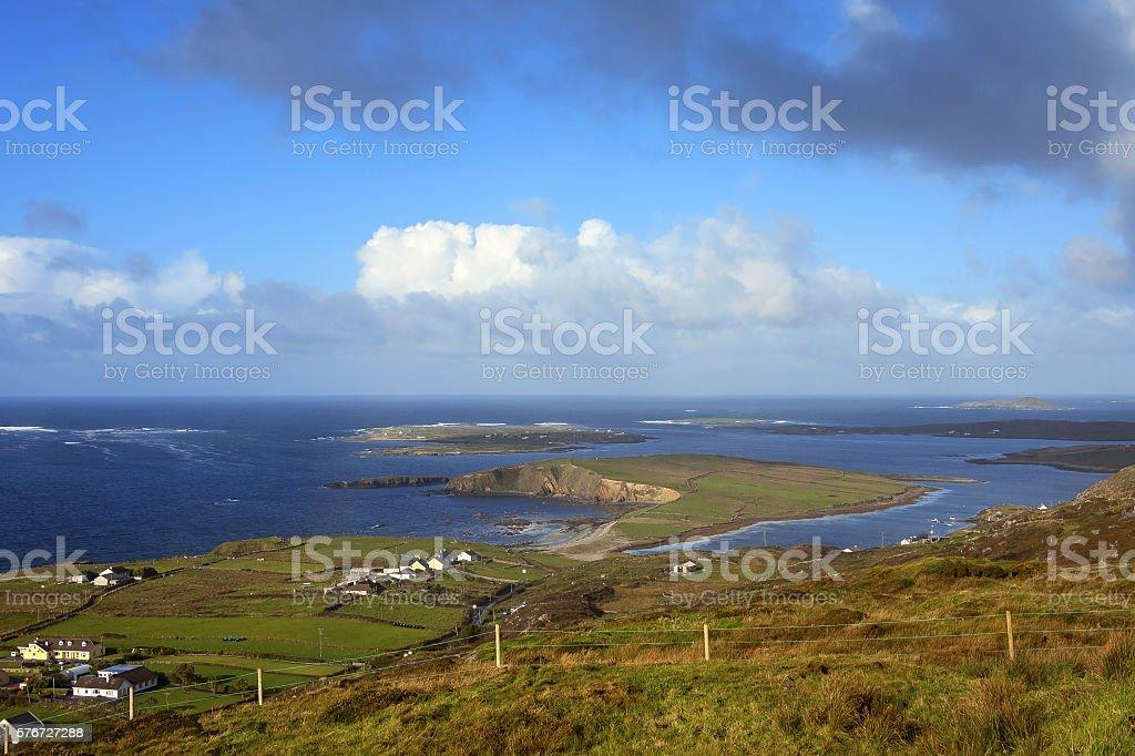 view of dingle peninsula - Ireland stock photo