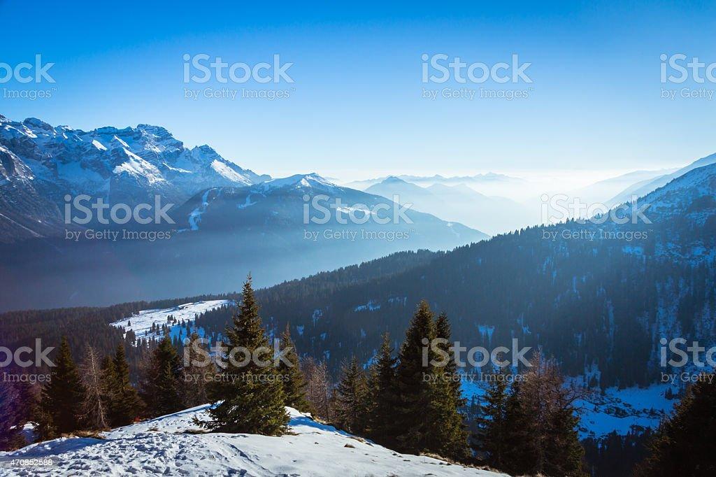 View of Dolomites stock photo