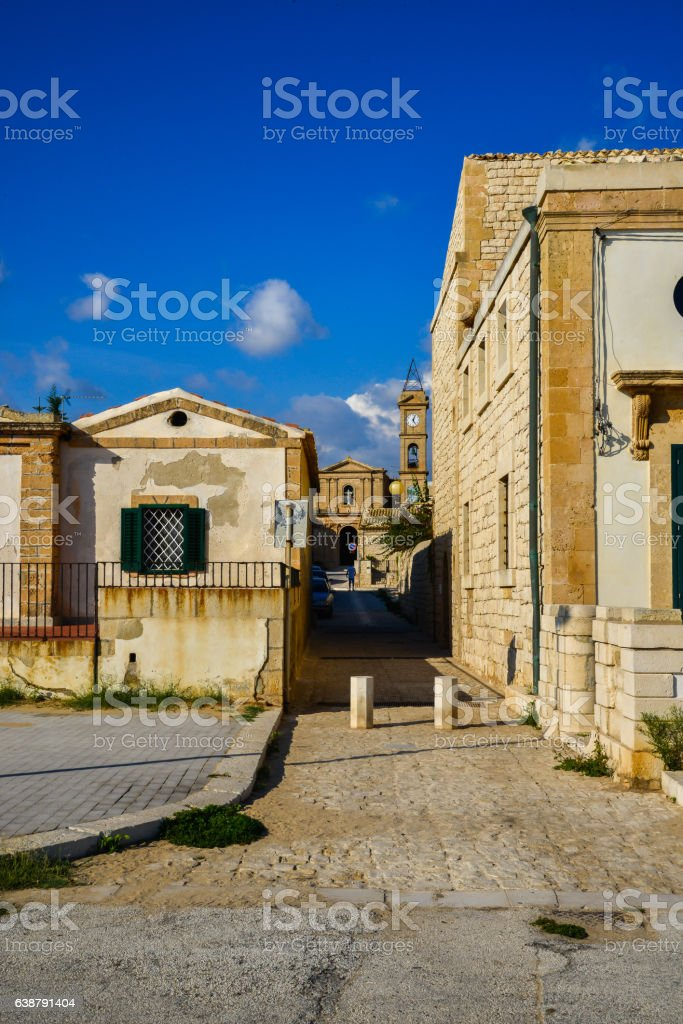View of Donnalucata - Sicily stock photo