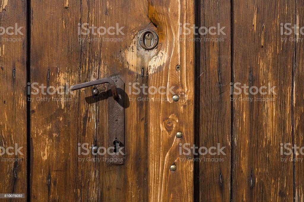 View of door. stock photo
