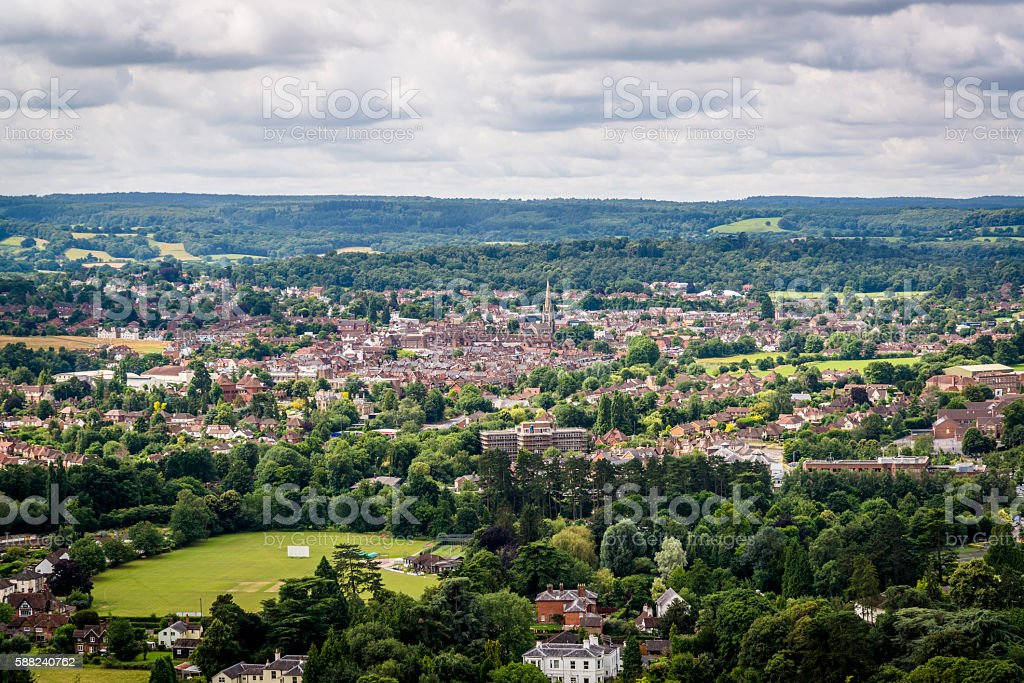 View of Dorking, England, UK stock photo