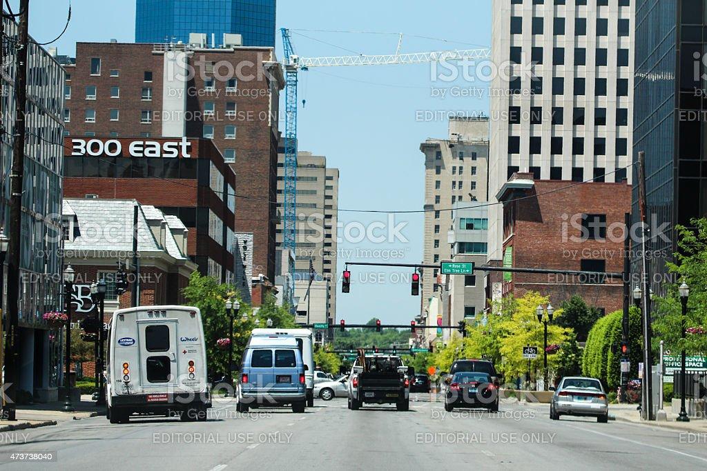 View of Downtown Lexington in Kentucky stock photo