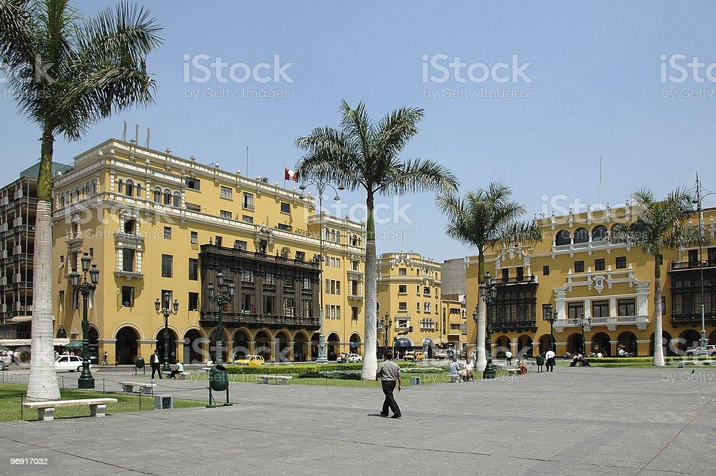 View of downtown Lima Peru royalty-free stock photo
