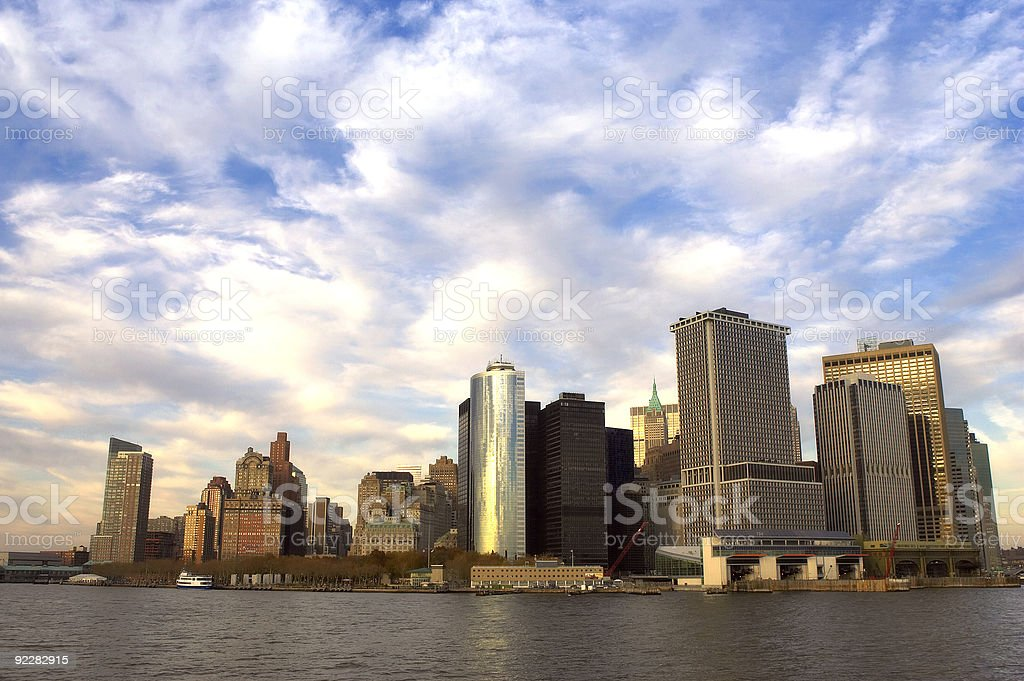 view of downtown manhattan royalty-free stock photo