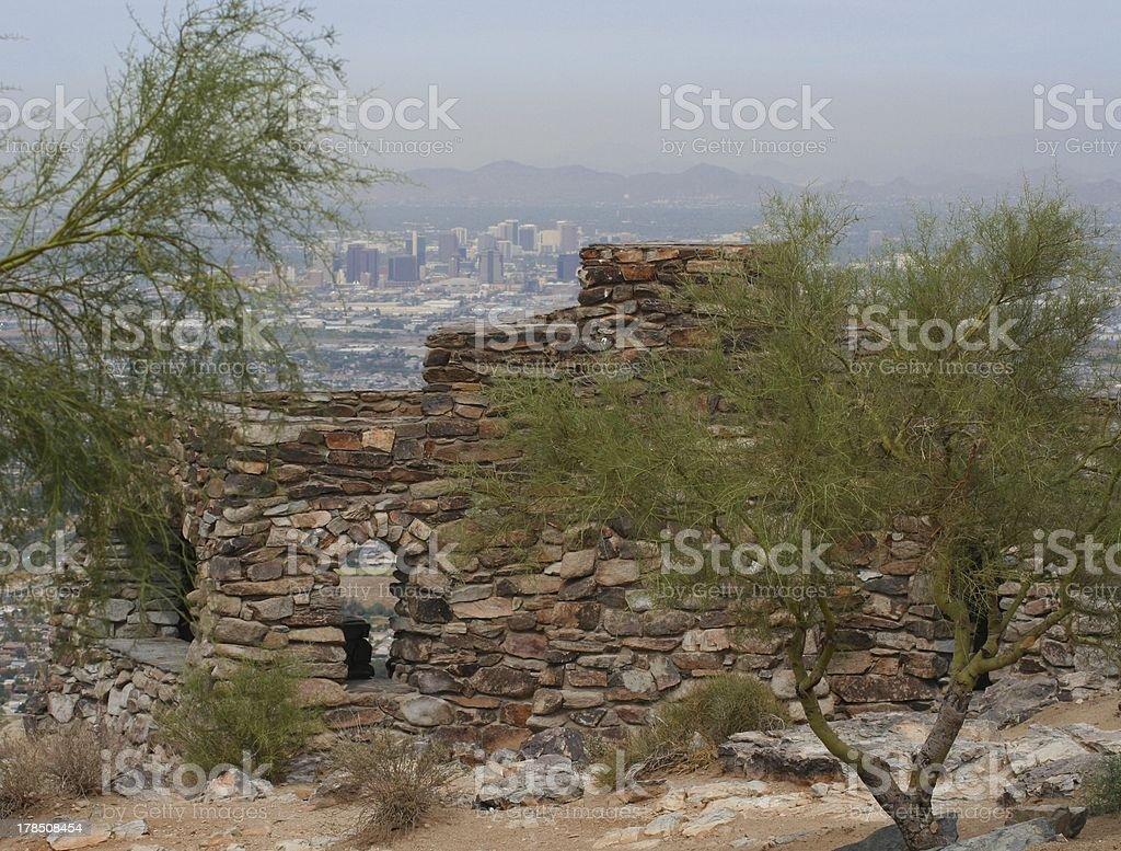 View of downtown Phoenix, Arizona royalty-free stock photo