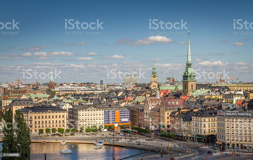 View of downtown Stockholm stock photo