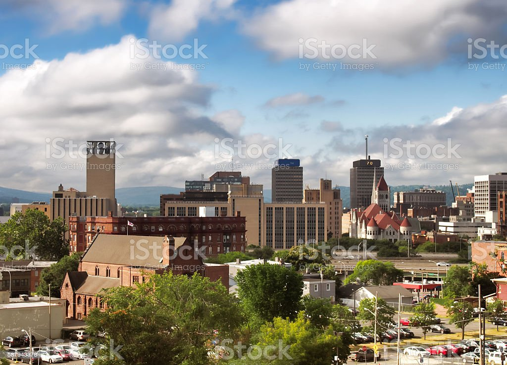 View of downtown Syracuse, New York stock photo