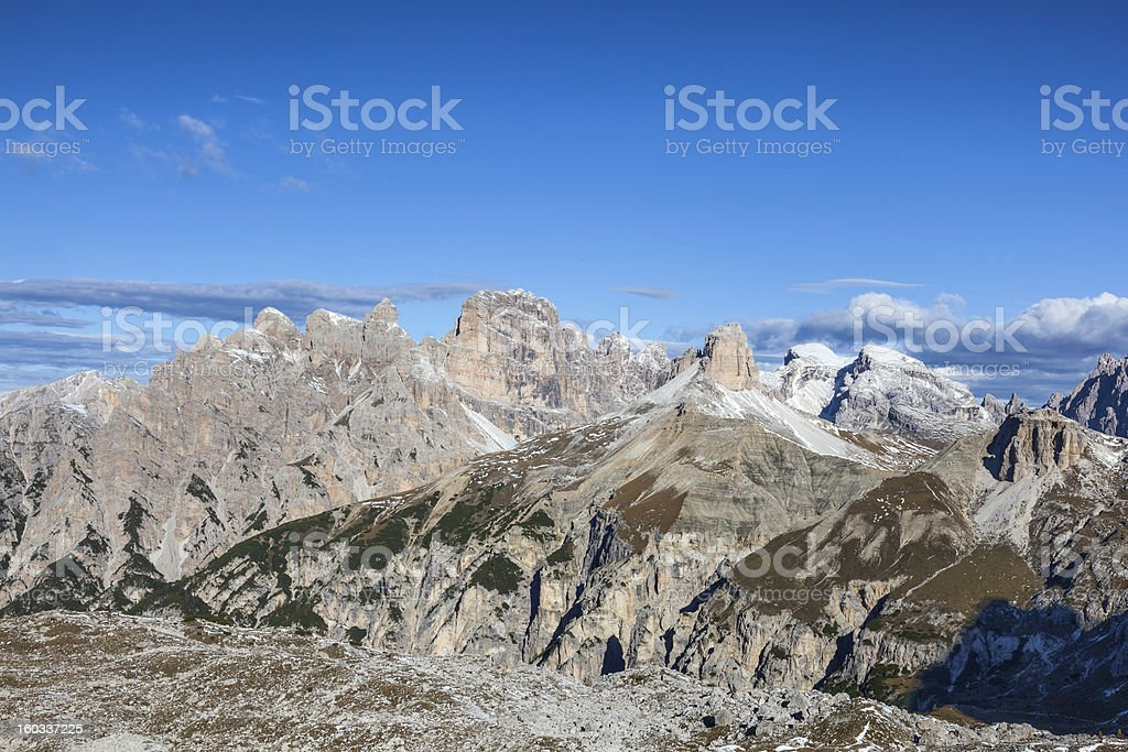 View of  Drei Zinnen Nature Park royalty-free stock photo