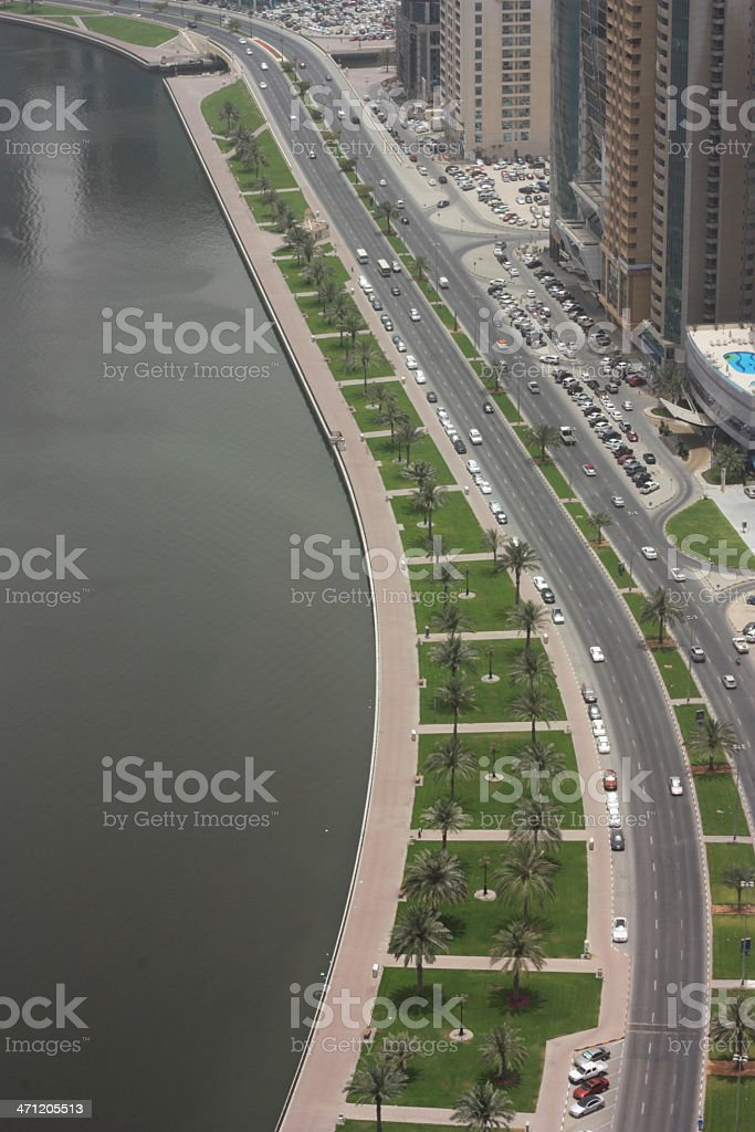 View of Dubai city royalty-free stock photo