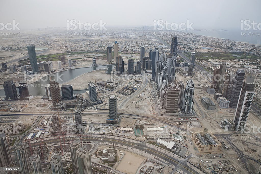 View of Dubai Construction stock photo